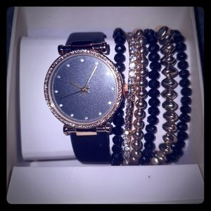 Geneve watch and bracelet set